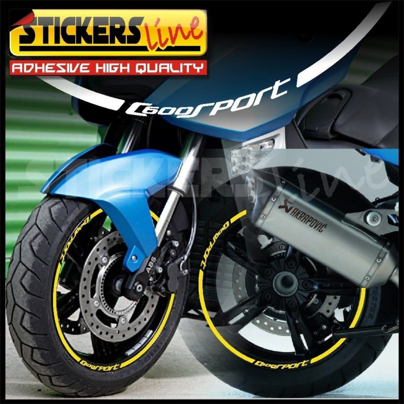 adesivi ruote moto bmw c600 strisce cerchi per bmw c600 sport wheel stickers stickers line. Black Bedroom Furniture Sets. Home Design Ideas