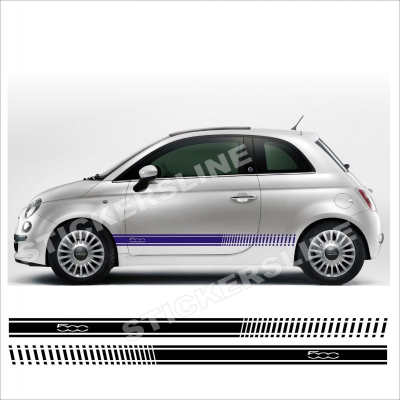 adesivi fiat 500 stile abarth logo 500 spatola omaggio stickers line. Black Bedroom Furniture Sets. Home Design Ideas