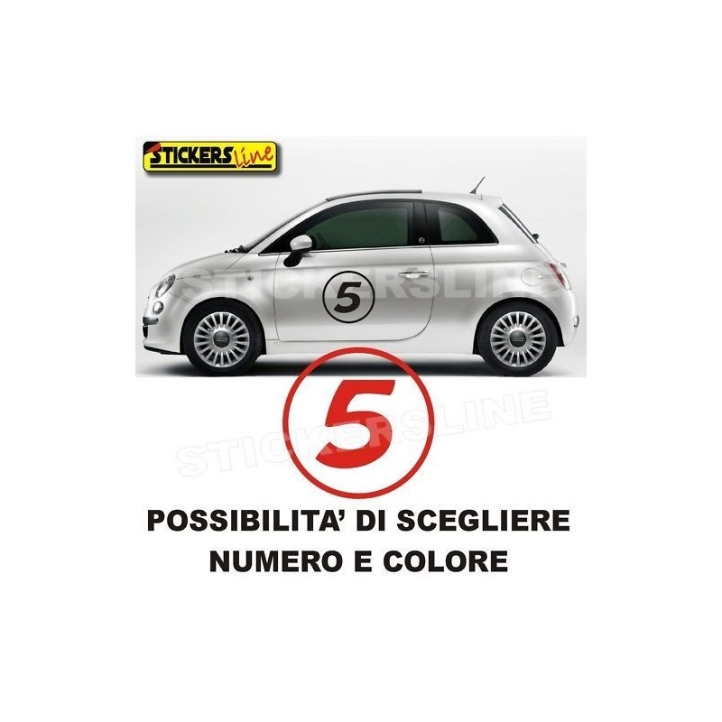 adesivi fiat 500 numeri adesivi stickers fiat 500 logo stickers line. Black Bedroom Furniture Sets. Home Design Ideas