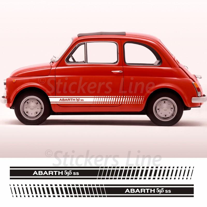 Fasce Adesive Fiat 500 Strisce Fiancate Laterali Abarth