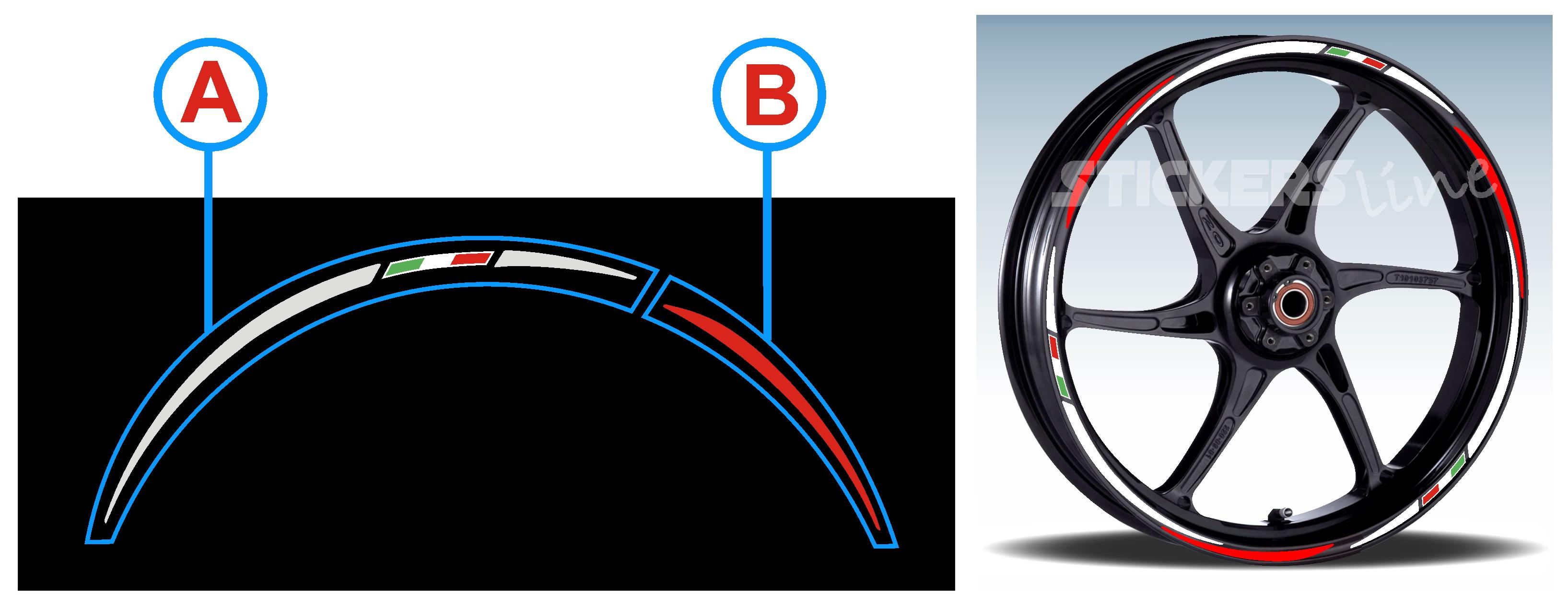 immagine scelta colori adesivi ruote a e b racing 3