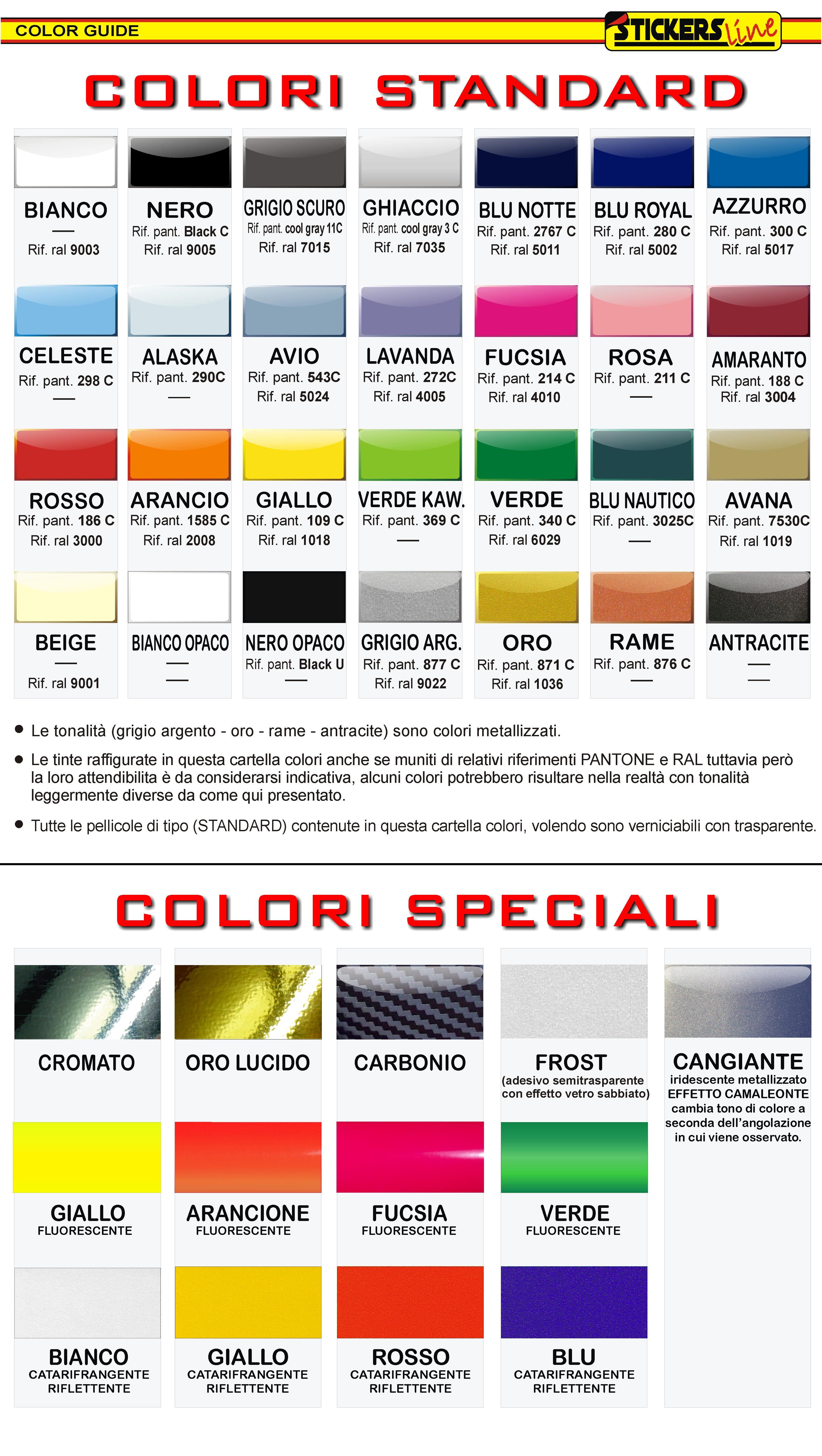 cartella colori adesivi cerchi moto