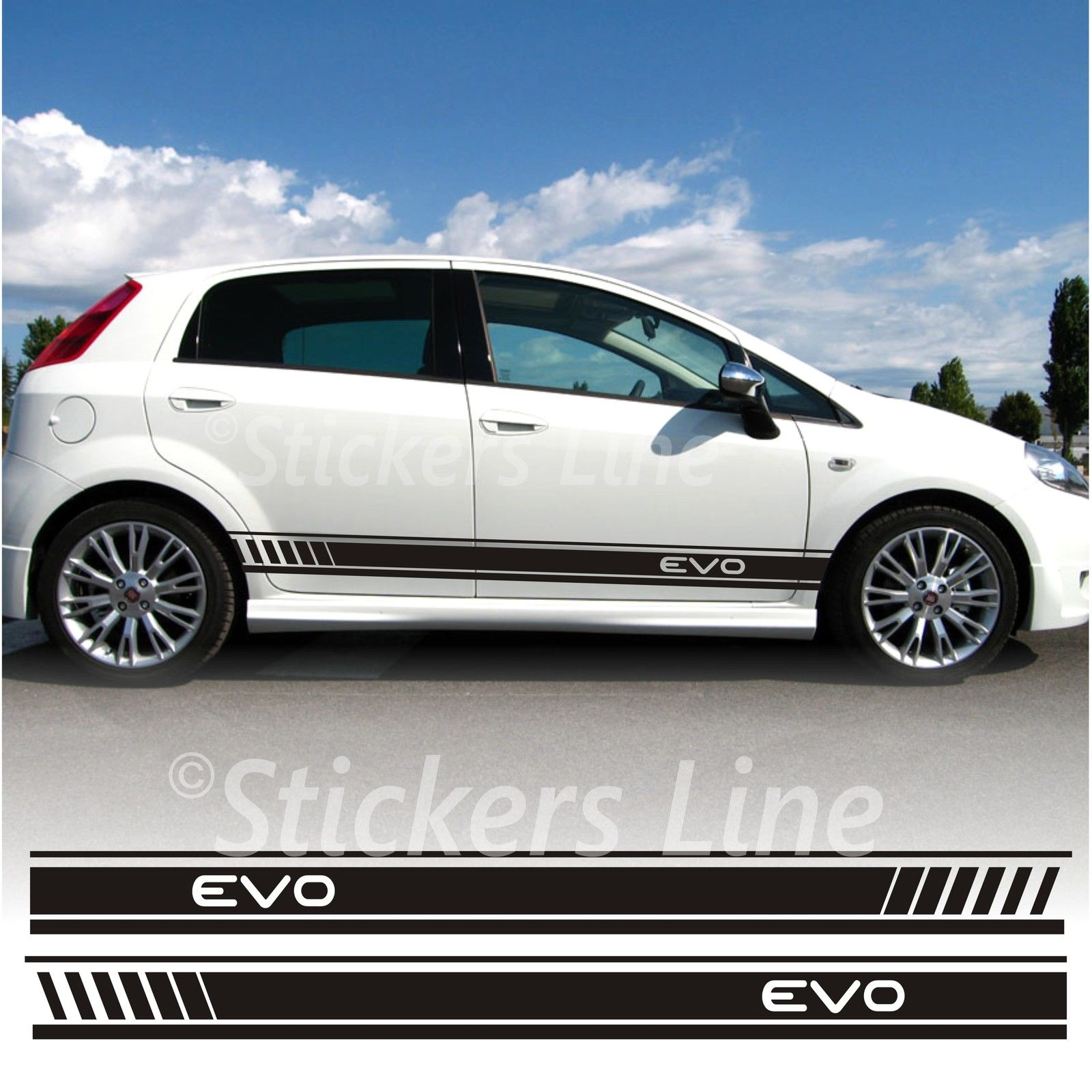 Adesivi Fiat Grande Punto Evo Fasce Adesive Punto Evo
