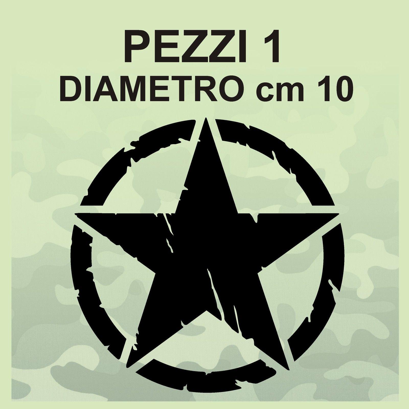 10x10 arancione 2 Pezzi Stella Militare US ARMY Vintage fiancata Posteriore Kit Adesivi