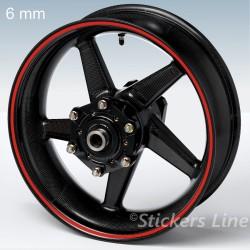 Adesivi ruote moto strisce cerchi STANDARD spess. 6mm kit generico scelta colori