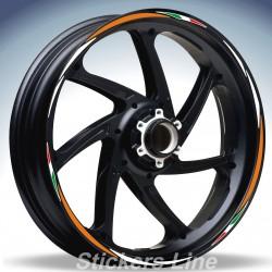 Adesivi ruote moto strisce cerchi per Aprilia TUONO R Racing 4 stickers wheel