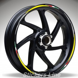 Adesivi ruote moto strisce cerchi per Aprilia TUONO V4R Racing 4 stickers wheel