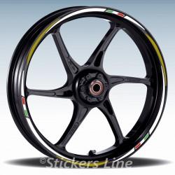 Adesivi ruote moto strisce cerchi per Aprilia TUONO R Racing 3 stickers wheel