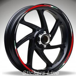 Adesivi ruote moto strisce cerchi per BENELLI TNT R160 Racing 4 stickers wheel