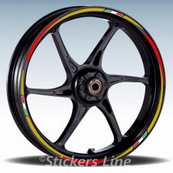 Adesivi ruote moto strisce cerchi per BENELLI TNT R160 Racing 3 stickers wheel