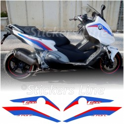 Adesivi moto BMW C600 Sport loghi carena bianco c 600 stickers BMW C 600 Sport