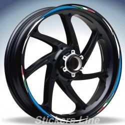Adesivi ruote moto strisce cerchi per BMW F800ST stickers wheel F800 ST Racing 4