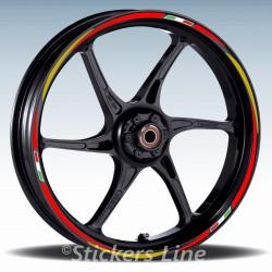 Adesivi ruote moto strisce cerchi per DUCATI 916 mod. Racing 3 stickers wheel