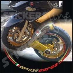 Adesivi ruote moto strisce cerchi per GILERA GP 800 (Racing 3) - gp800 wheel