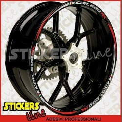 Adesivi ruote moto strisce cerchi per HONDA HORNET 2011Racing 2 stickers wheel