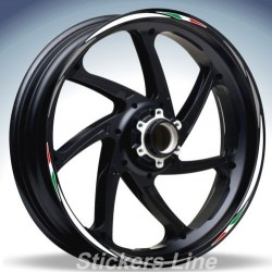 Adesivi ruote moto strisce cerchi HONDA NC 700 X Racing 4 sitckers wheel NC700X