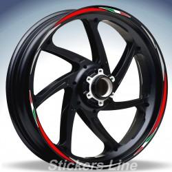 Adesivi ruote moto strisce cerchi KAWASAKI ZX7R Racing 4 sitckers wheel ZX-7R