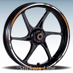 Adesivi ruote moto strisce cerchi DUCATI, SUZUKI, HONDA, YAMAHA, TRIUMPH, KTM