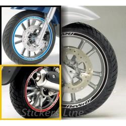 Adesivi ruote moto strisce cerchi PIAGGIO BEVERLY 350 ST stickers beverly st