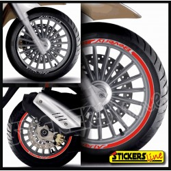 adesivi moto PIAGGIO Beverly strisce ruote stickers