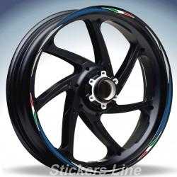 Adesivi ruote moto strisce cerchi SUZUKI BANDIT 600 Racing 4 sitckers wheel