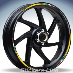 Adesivi ruote moto strisce cerchi SUZUKI GLADIUS Racing 4 sitckers wheel GLADIUS