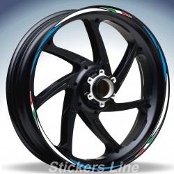 Adesivi ruote moto strisce cerchi SUZUKI GSXR 750 Racing 4 sitckers wheel GSX R