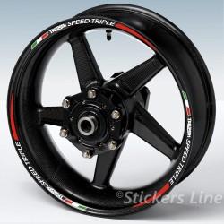 Adesivi moto Triumph DAYTONA RACING 2 - strisce cerchi