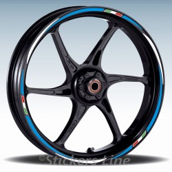 Adesivi moto strisce ruote cerchi Triumph STREET TRIPLE R 675 Racing 2 wheels