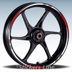 Adesivi ruote moto strisce cerchi per Triumph TIGER 1050 Racing3 wheel
