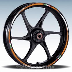 Adesivi ruote moto strisce cerchi per Triumph STREET TRIPLE Racing3 wheel