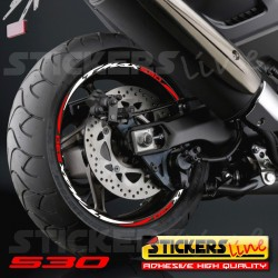 Adesivi ruote moto strisce cerchi YAMAHA MT-09 Racing4 sitckers wheel MT 09