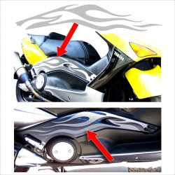 FIAMME per TMAX YAMAHA T MAX flame stickers