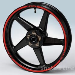 Adesivi ruote moto YAMAHA FZ8 strisce cerchi fz8 wheel stickers fz 8