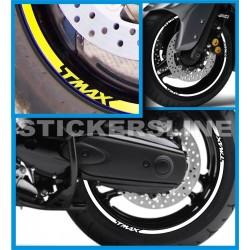 Adesivi ruote moto strisce cerchi YAMAHA Tmax 500 Tmax 530 Tmax 560 t max