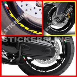 Adesivi ruote strisce cerchi YAMAHA TMAX 500 - tmax 530 RACING cerchi t max