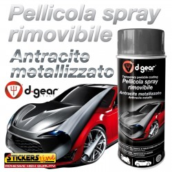 Vernice removibile NERO LUCIDO 400 ml pellicola spray D GEAR plasti dip wrapping cerchi auto moto