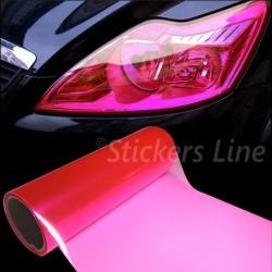 Pellicola adesiva colorata FUCSIA rosa fari fanali auto moto camion cm 25x30