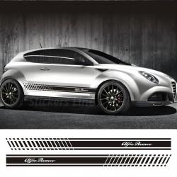 Fasce adesive Alfa Romeo MITO strisce fiancate adesivi laterali alfaromeo mito