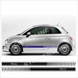Adesivi FIAT 500 stile abarth LOGO 500 +spatola OMAGGIO