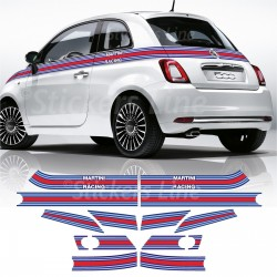 Fasce adesive Fiat 500 MARTINI RACING Adesivi martini racing strisce adesivo 500