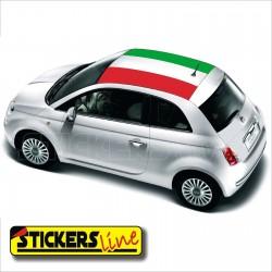 Adesivo tricolore TETTO FIAT 500 adesivo italia fiat 500 bandiera italia tetto