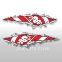 Adesivi ALFAROMEO effetto strappo stickers cm 40 adesivo alfa romeo logo alfa