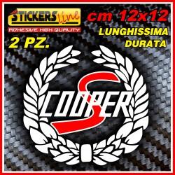 2 loghi adesivi mini cooper S hold style adesivi mini epoca stisckers cooper S