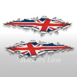 Adesivi MINI COOPER bandiera INGLESE stickers cm 125