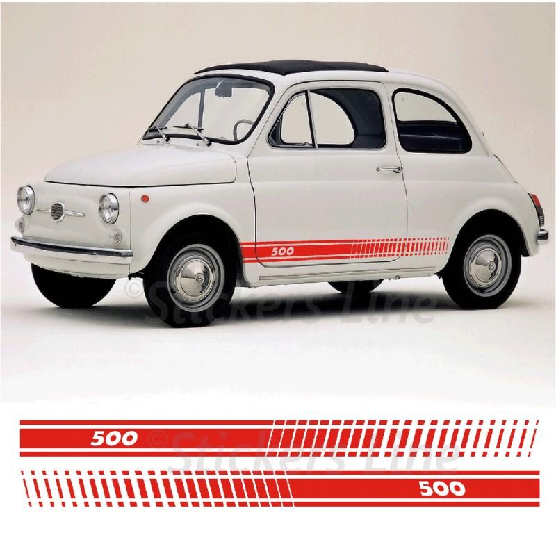 Fasce Adesive Fiat 500 D Epoca Strisce Fiancate Adesivi Laterali Vecchia 500 Old Stickers Line