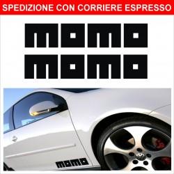 coppia di sponsor tecnici adesivi per autotuning MOMO