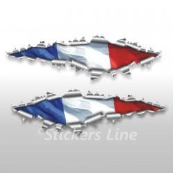 Adesivi bandiera FRANCESE strappo stickers cm 22 drapeau français French flag