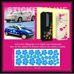 Adesivi fiori flower stickers adesivi casa adesivi auto