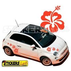 Kit di adesivi FIORI 1 SMART FIAT 500 OPEL ADAM adesivo car Flowers stickers